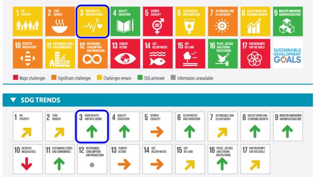 SDGs目標3.達成度_評価と傾向